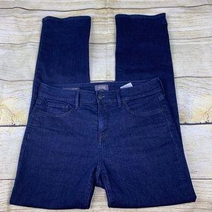 NYDJ Marilyn Straight Blue Denim Stretch Jeans